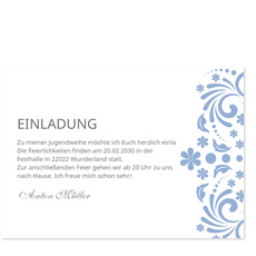 Elegante Einladung in Blau