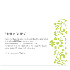 Elegante Einladung in Grün