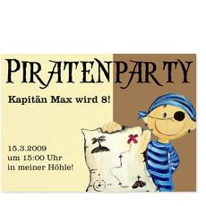 Piratenparty mit Kapitän
