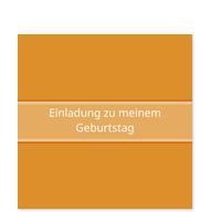 Simpel in Orange