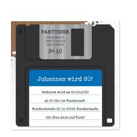 Diskette in Blau