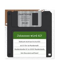 Diskette in Grün