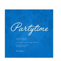 Partytime Floralmuster in Blau