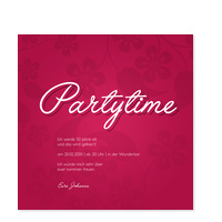 Partytime Floralmuster