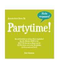 Partytime in Grasgrün