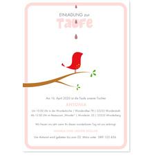 Kleines Vögelchen - Rosa