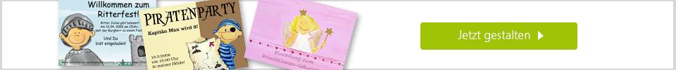 Karten zum Kindergeburtstag online gestalten
