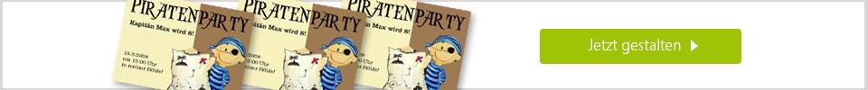 Einladungskarte-Piratenparty online gestalten