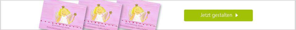 Einladungskarte - Prinzessin online gestalten
