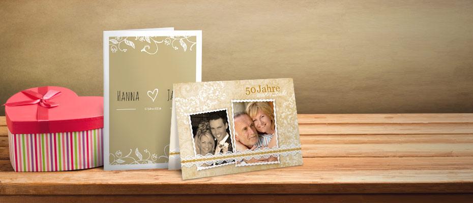 Karten Goldene Hochzeit Gratis Musterkarten Und Versand