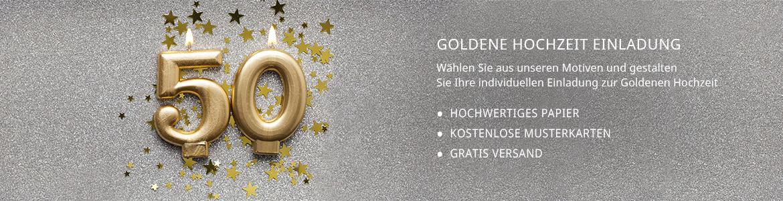 Einladungskarten Goldene Hochzeit Lieferzeit 1 2 Werktage