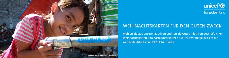 Weihnachtskarten UNICEF geschäftlich