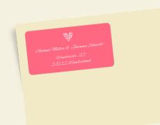 Etiquetas de dirección de boda