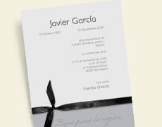 Invitaciones de funeral