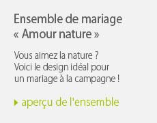 Ensemble mariage amour nature