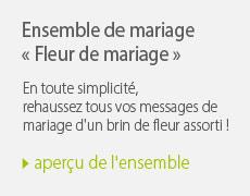 Ensemble de mariage fleur de mariage