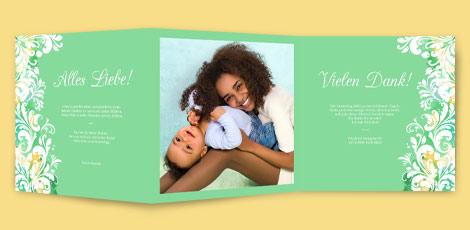 Muttertagskarte - Aquarell in Grün