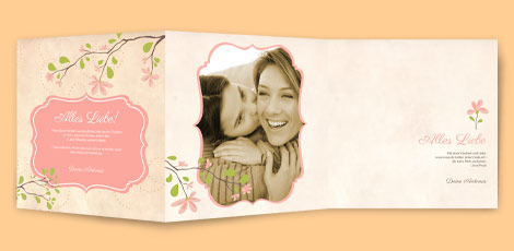 Muttertagskarte - Magnolienzweig