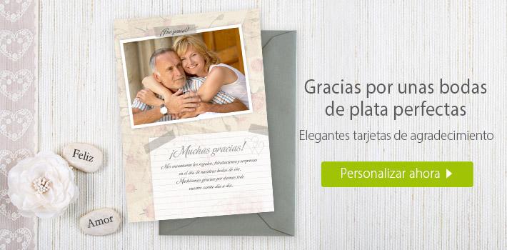 Cartas de agradecimiento de bodas de plata