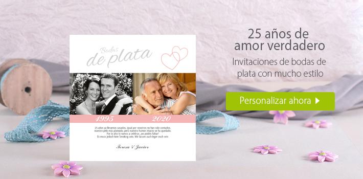 Invitaciones de bodas de plata