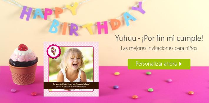 Invitaciones de cumpleaños para niñas