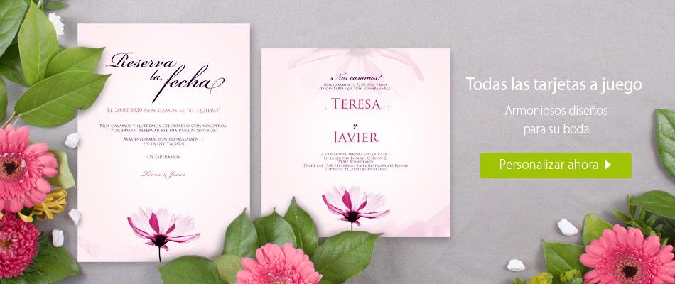 Set de boda Delicada flor