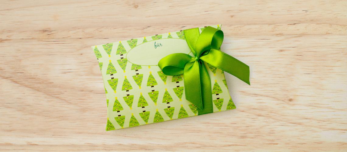 Flache geschenkbox basteln