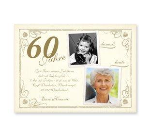 Geburtstag   Einladungskarten 60. Geburtstag