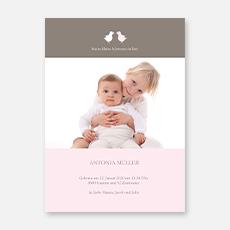 Geburtskarten für Geschwister