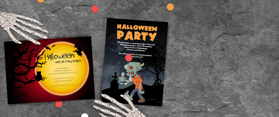 Präferenz Einladungskarten Halloween | Versandfertig in 24 Stunden XY84
