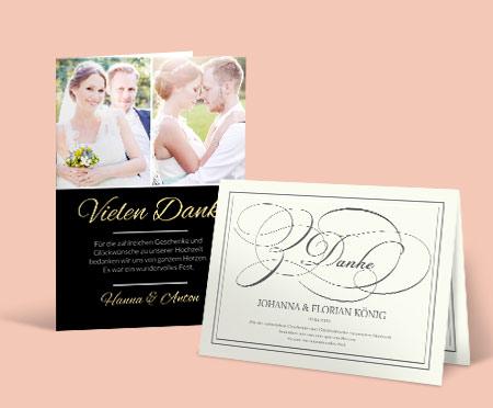 Hochzeitskarten - Dankeskarten Hochzeit