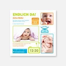 Geburtskarten für Jungen