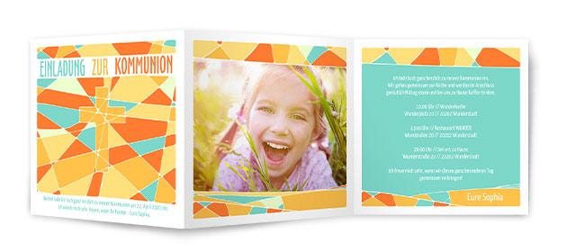 kommunionskarten | kostenloser & schneller versand, Einladung