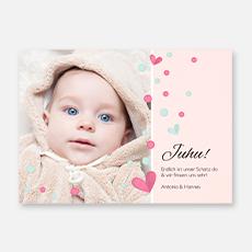 Geburtskarten für Maedchen