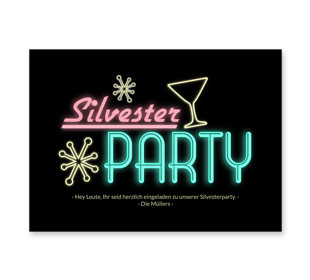 Einladung Silvesterparty