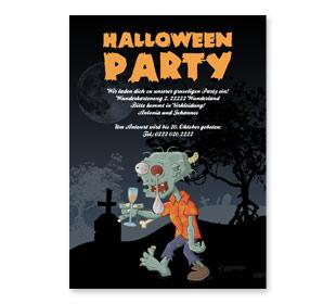Einladungskarten Halloweenparty