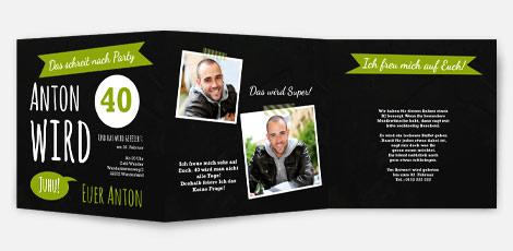 Einladungskarten runder Geburtstag