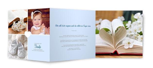 taufkarten | versandfertig in 24 stunden, Einladung