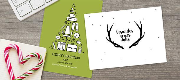 firmen weihnachtskarten versandfertig in 24 stunden. Black Bedroom Furniture Sets. Home Design Ideas