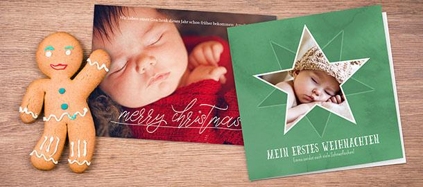 Weihnachtskarten selbst gestalten | Kostenloser Versand