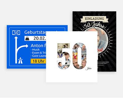 Einladungskarten 50 Geburtstag Lieferzeit 1 2 Werktage