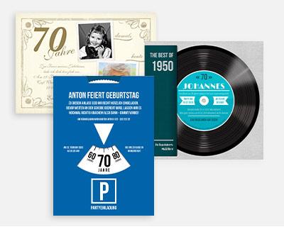 Designs und Formate 70. Geburtstag