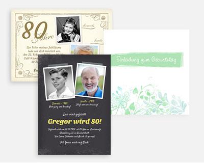 Designs und Formate 80. Geburtstag
