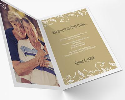 Designs und Formate Goldene Hochzeit