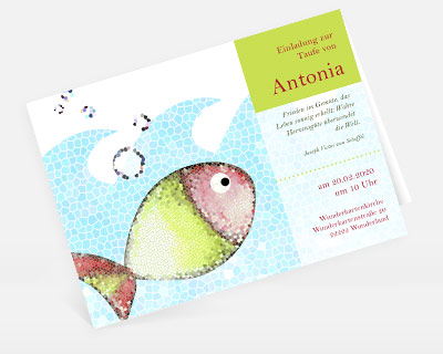 Einladungskarte Taufe: Gratis Musterkarte